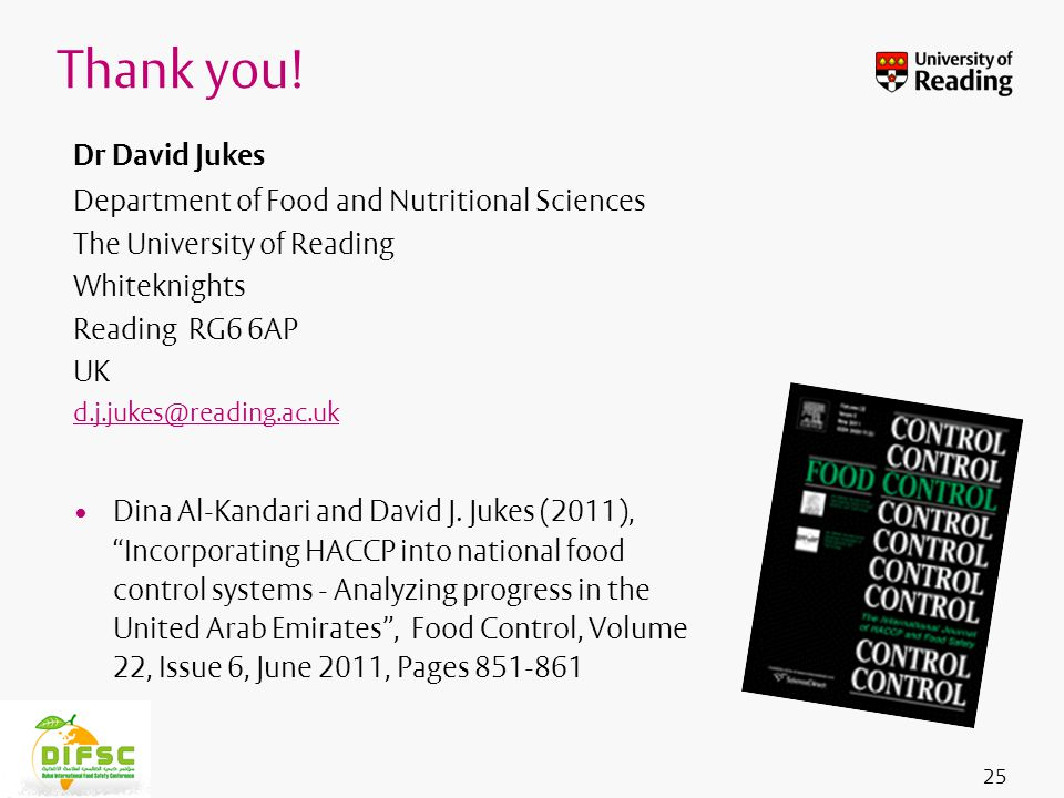 Insert footer on Slide Master Dr David Jukes Department of Food and Nutritional Sciences The University of Reading Whiteknights Reading RG6 6AP UK d.j.jukes@reading.ac.uk Dina Al-Kandari and David J.