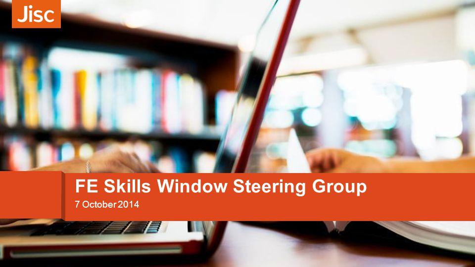 Introducing customer experience 7 October 2014 FE Skills Window Steering Group