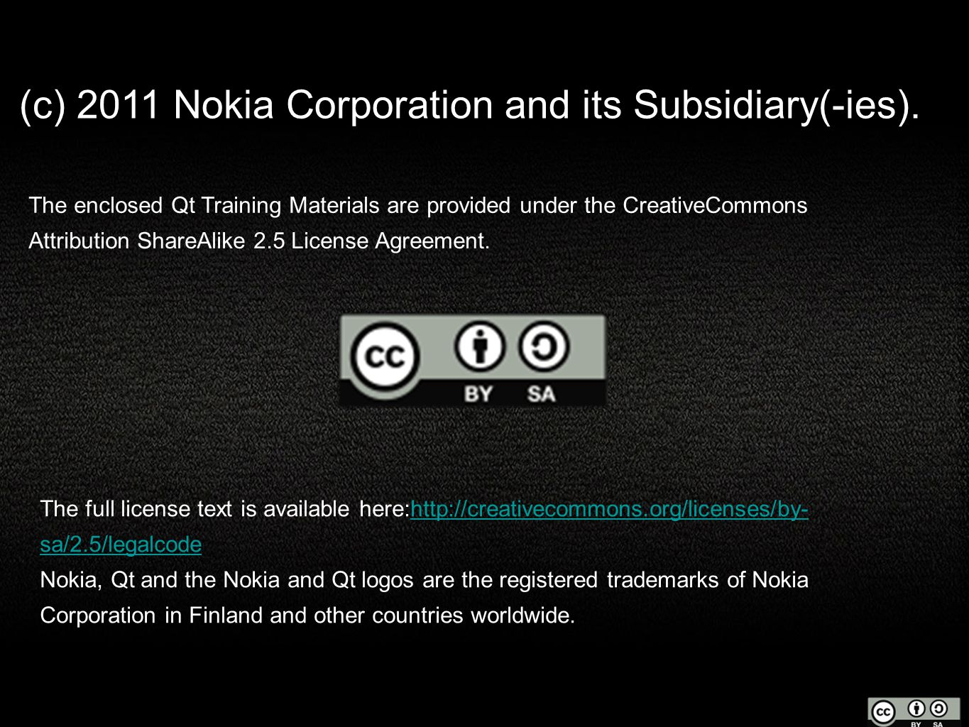 (c) 2011 Nokia Corporation and its Subsidiary(-ies).