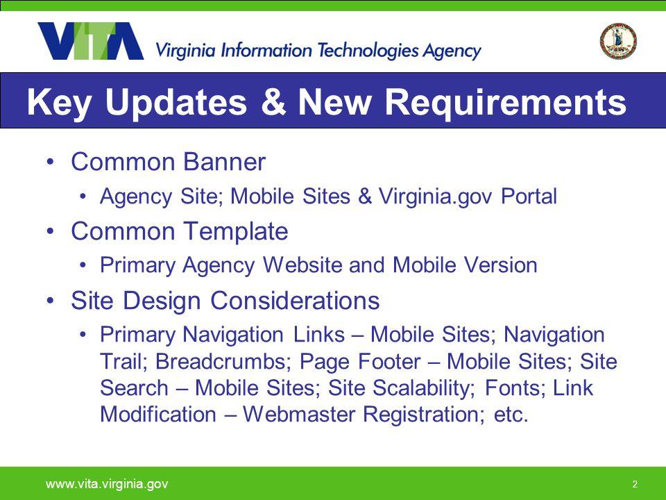 23 Agency Commonwealth Banner www.vita.virginia.gov