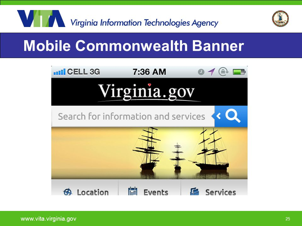25 Mobile Commonwealth Banner www.vita.virginia.gov