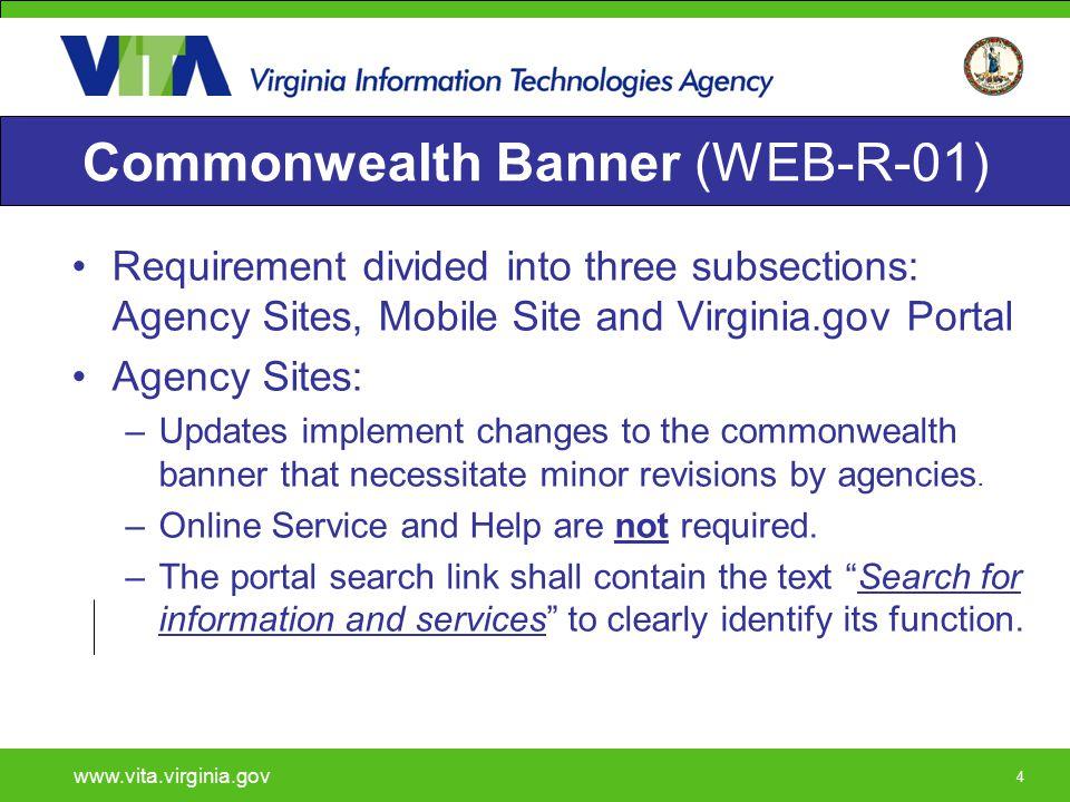 25 Mobile Commonwealth Banner www.vita.virginia.gov