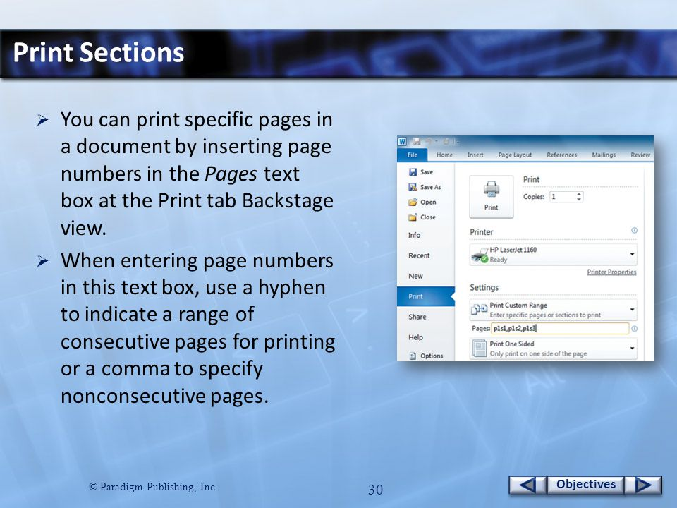 © Paradigm Publishing, Inc.29 Objectives Insert Headers and Footers…continued 6.