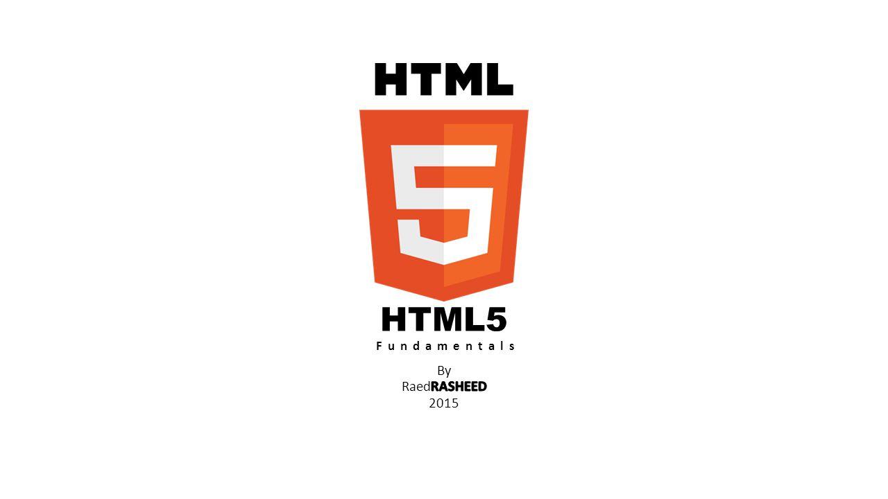 HTML5 Fundamentals