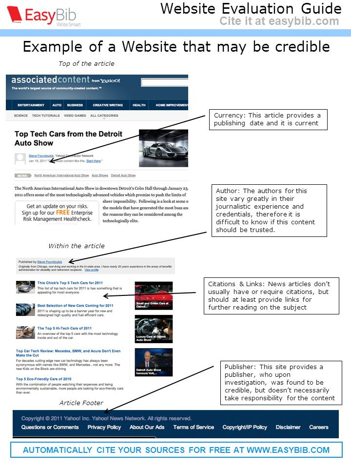 Citing a website article - MLA Website: A collection of online informational pages on the world wide web that typically covers related topics Structure : Last, First M.