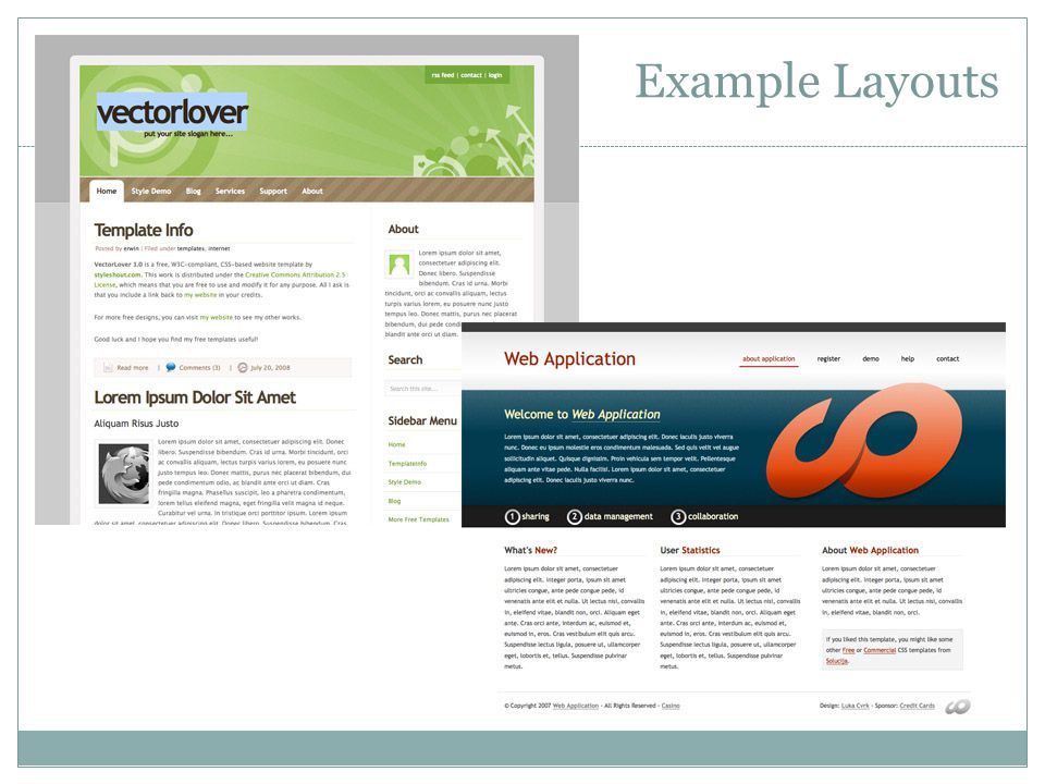Layouts that work on many devices layouts and CSS can create flexible layouts that work on various screen sizes.