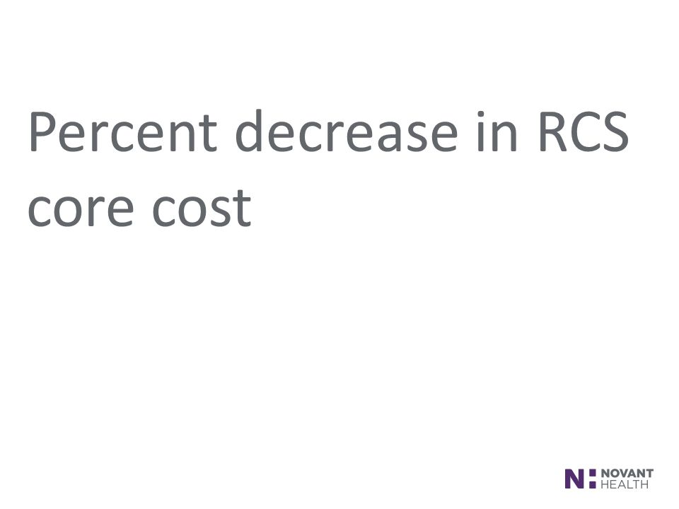 FOOTER AREA Percent decrease in RCS core cost