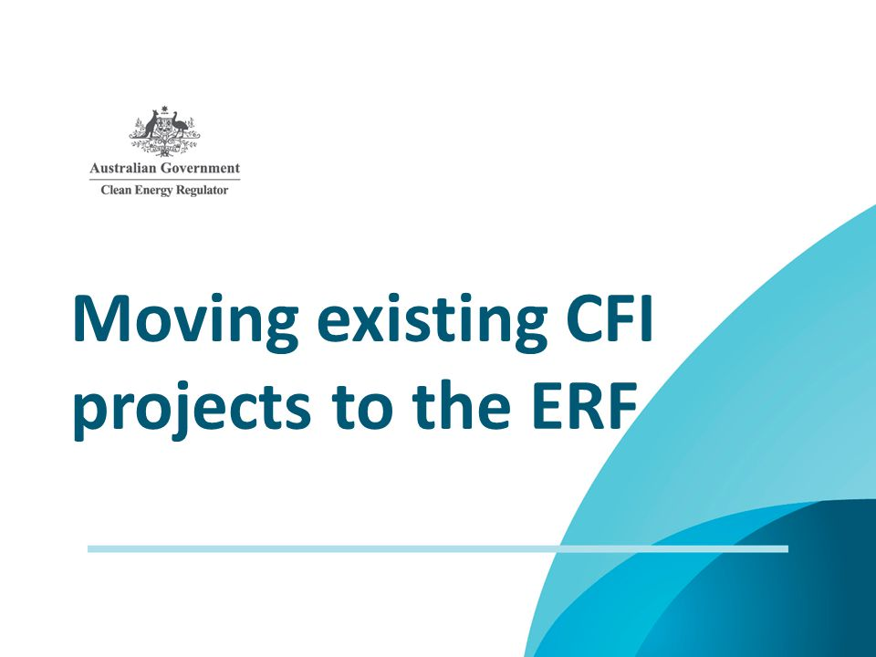 Moving existing CFI projects to the ERF