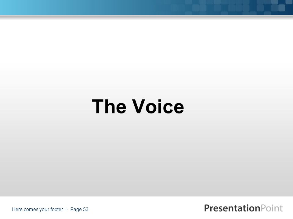 The Voice Here comes your footer  Page 53