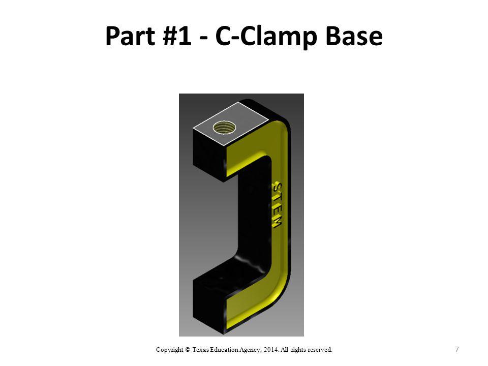 7 Part #1 - C-Clamp Base