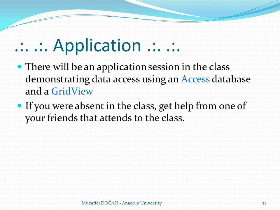 .:..:. Application.:..:.