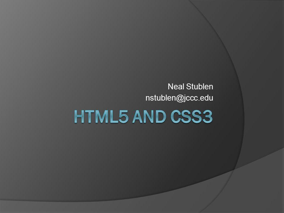 Neal Stublen nstublen@jccc.edu