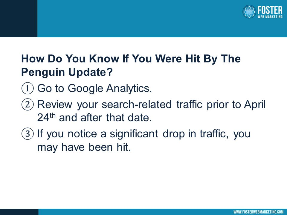 How Do You Know If You Were Hit By The Penguin Update.