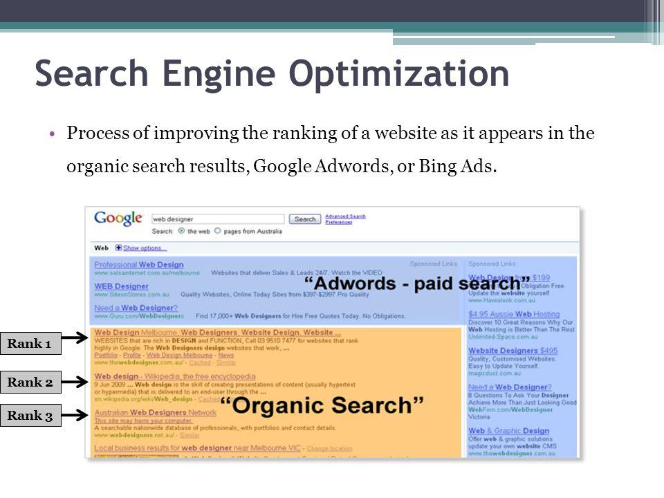 Ranking Log Purpose: Establish a baseline reading using meta tag.