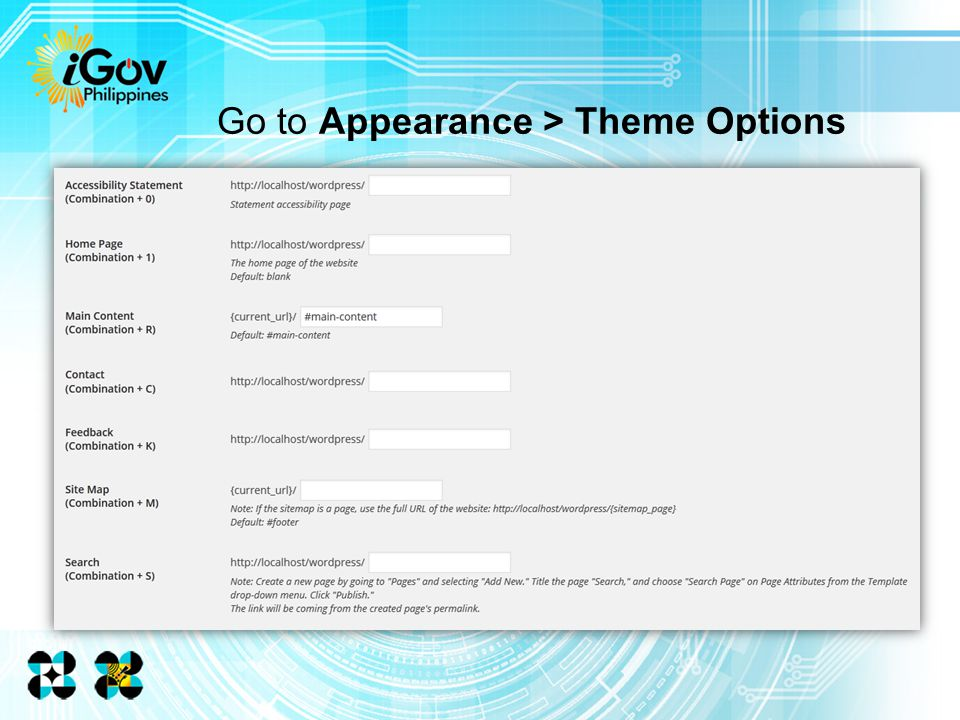 Go to Appearance > Theme Options