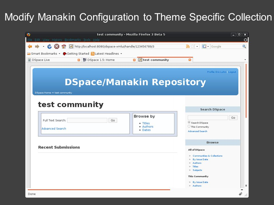 Modify Manakin Configuration to Theme Specific Collection