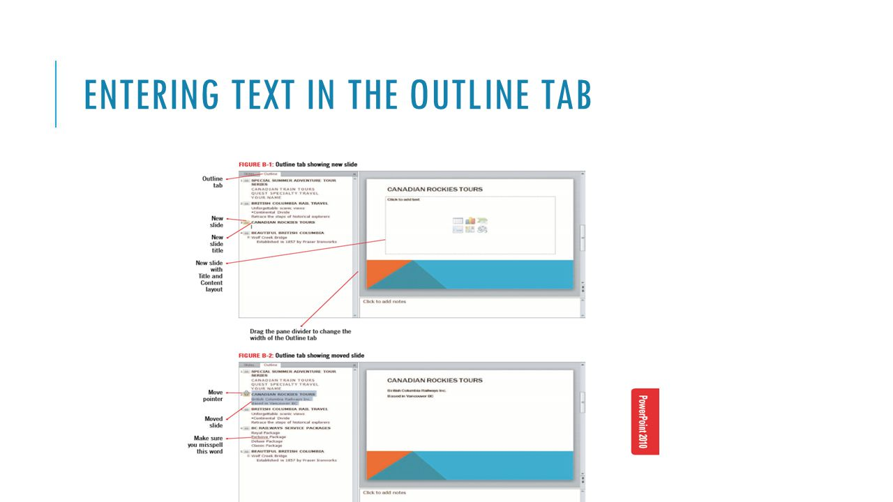FORMATTING TEXT Once you have entered and edited the text in your presentation, you can modify the way the text looks to emphasize your message.