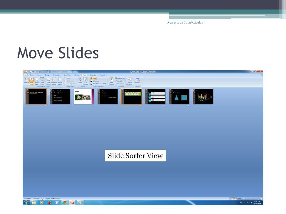 Move Slides Panayiotis Christodoulou Slide Sorter View