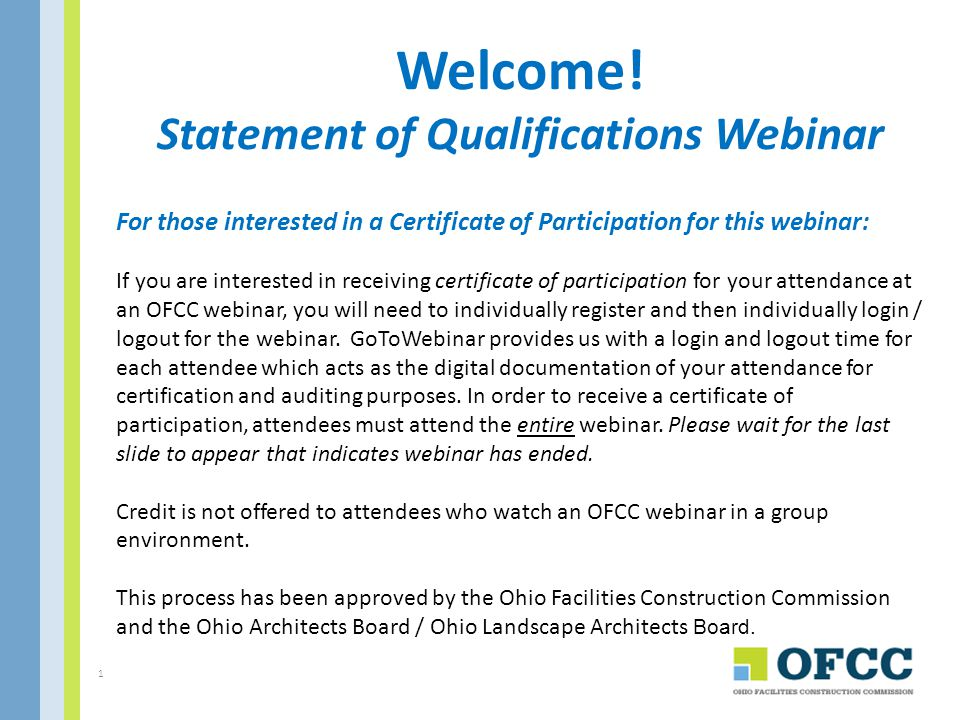 For your Information Will the Webinar be Recorded for Future Use.