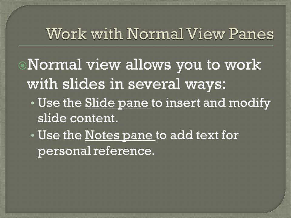  By default, slides are displayed in landscape orientation and notes pages and handouts are displayed in portrait orientation  You can use the new Slide Orientation button on the Design tab to quickly switch from one orientation to another.