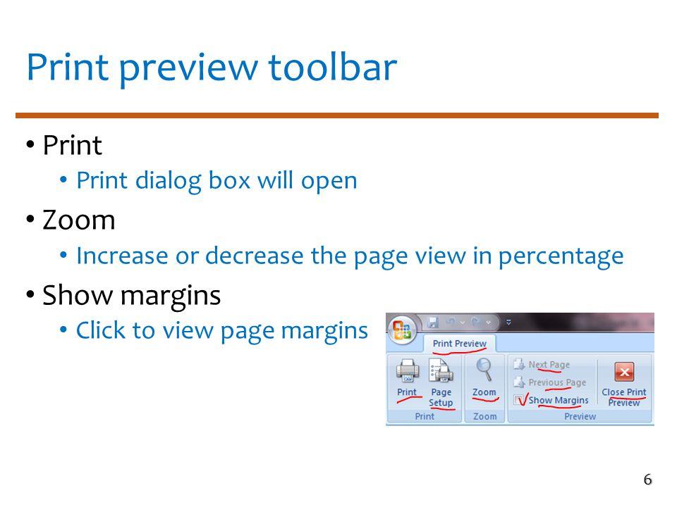 Print dialog box 7