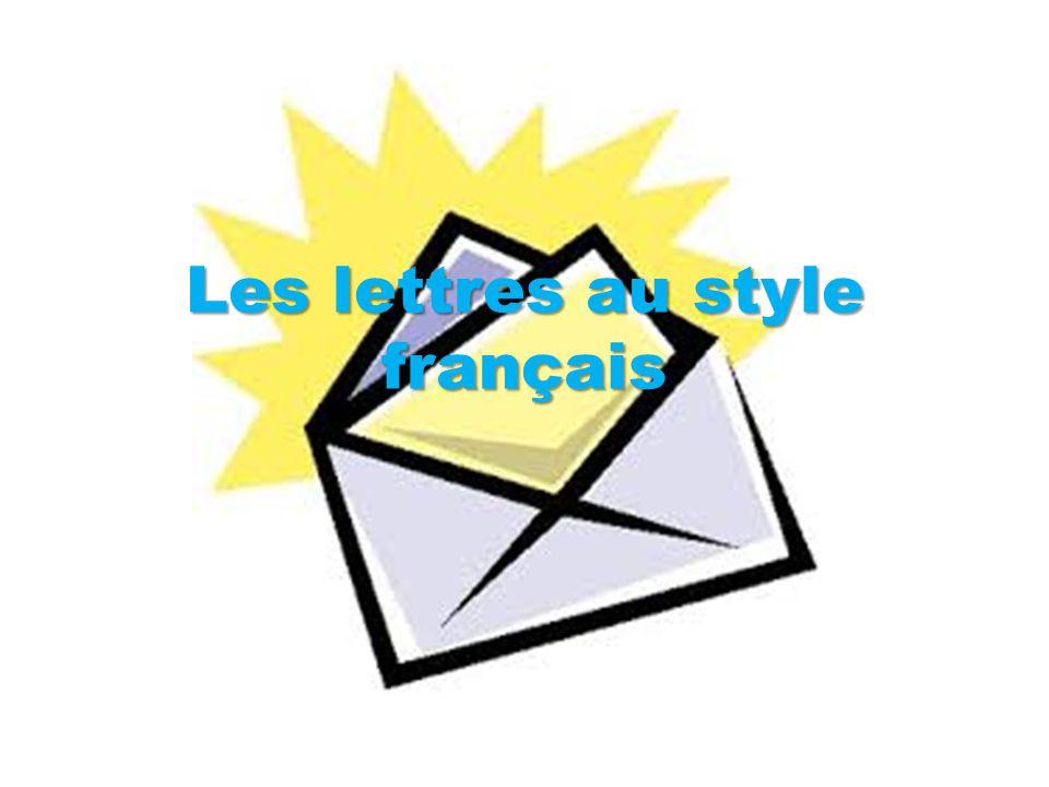 Les lettres au style français