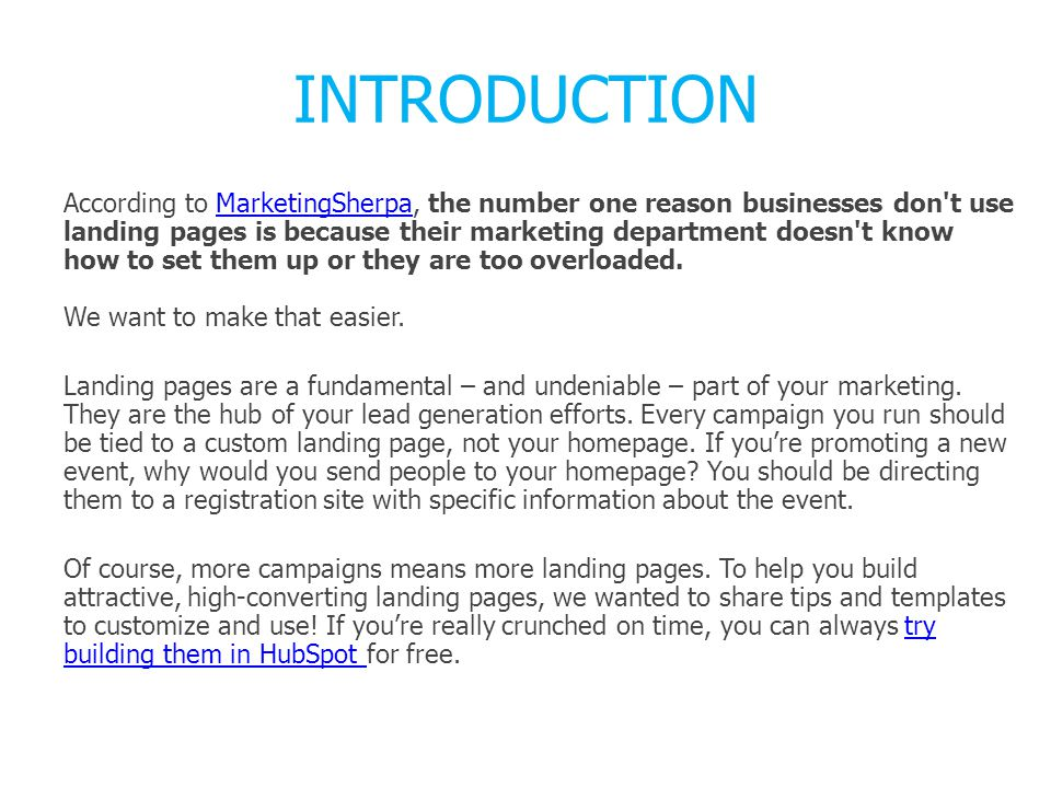 Replace Header 1 with the title for this landing page.