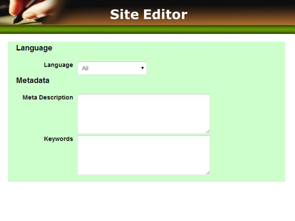 www.themegallery.com Site Editor