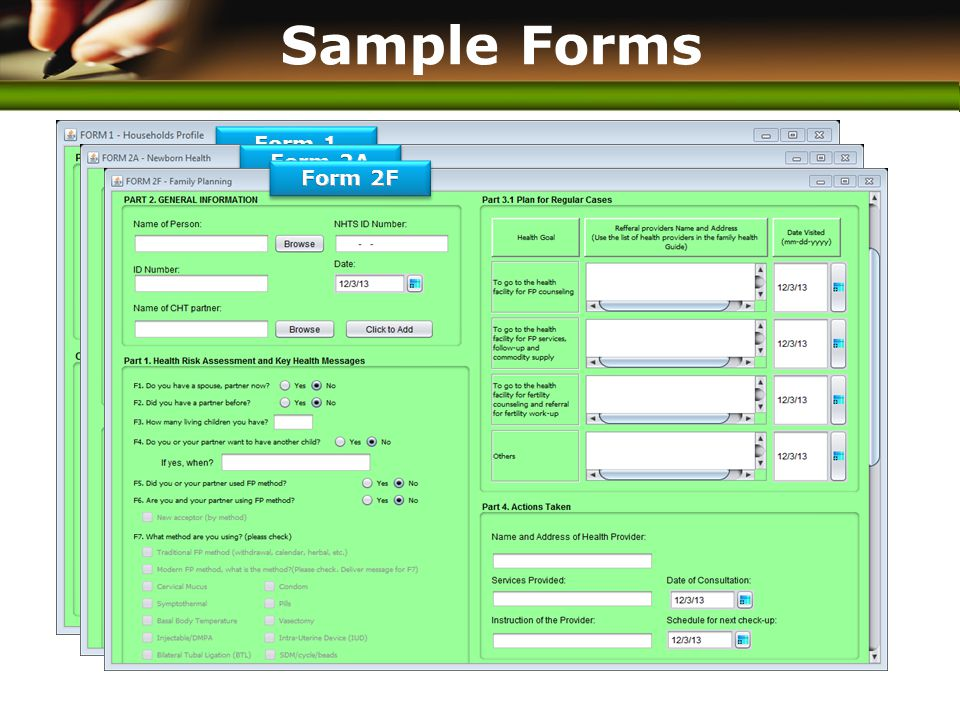 www.themegallery.com Sample Forms