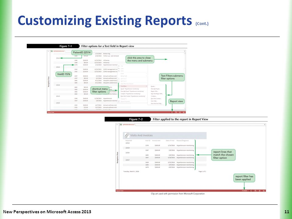 XP Customizing Existing Reports (Cont.) New Perspectives on Microsoft Access 201311