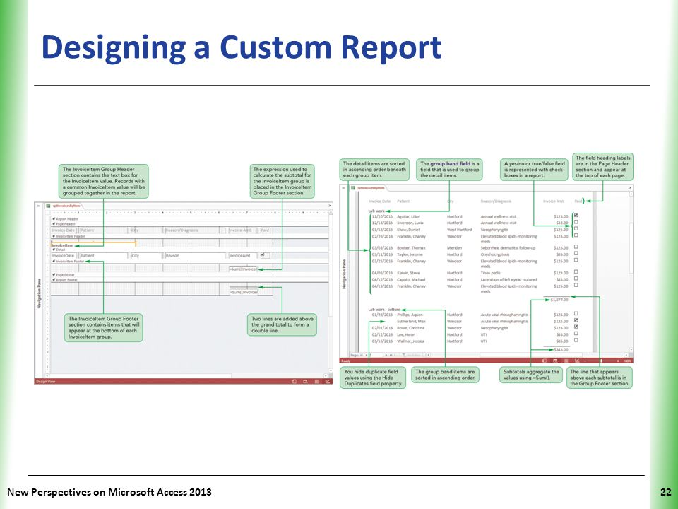 XP Designing a Custom Report New Perspectives on Microsoft Access 201322