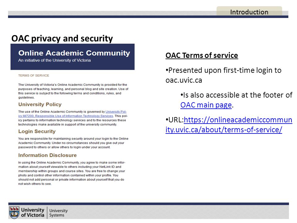 Uses of the OAC Personal blogs, academic sites and social interests groups AGENDA Introduction