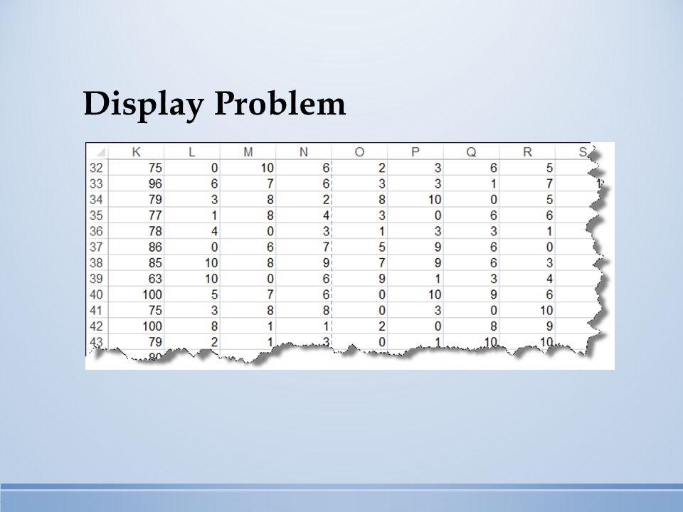 Display Problem