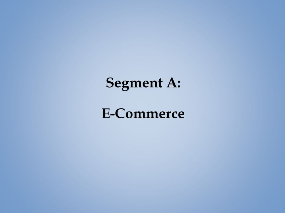 Segment A: E-Commerce