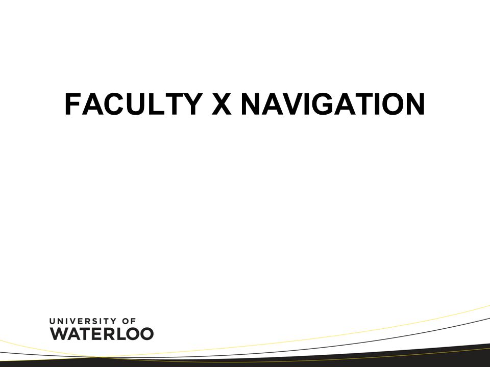 FACULTY X NAVIGATION