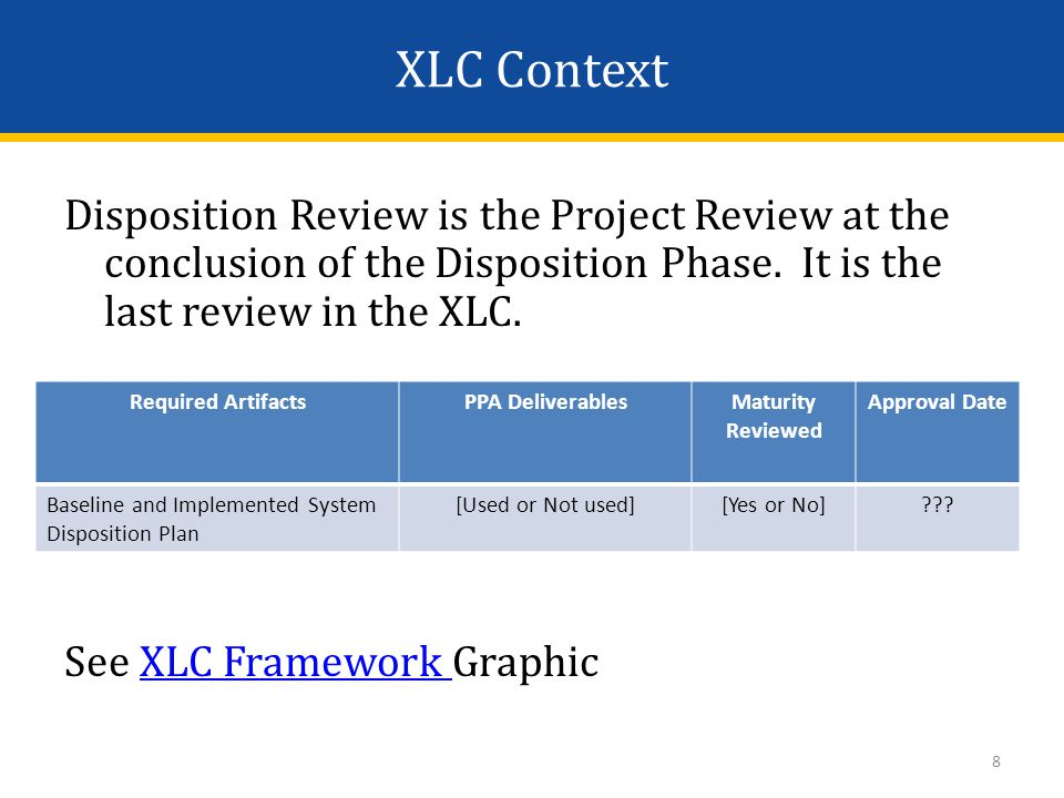Centers for Medicare & Medicaid Services eXpedited Life Cycle (XLC) Conclusion of Disposition Review for [Insert project name] 19