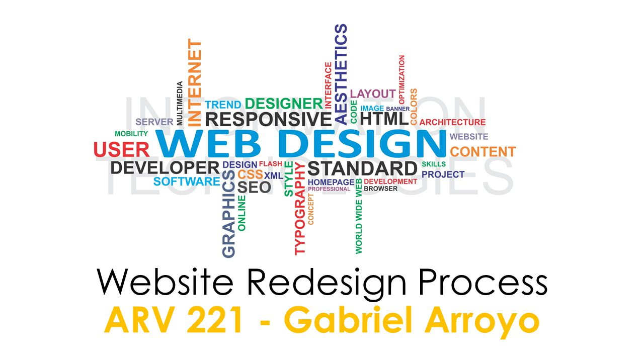 Website Redesign Process ARV 221 - Gabriel Arroyo