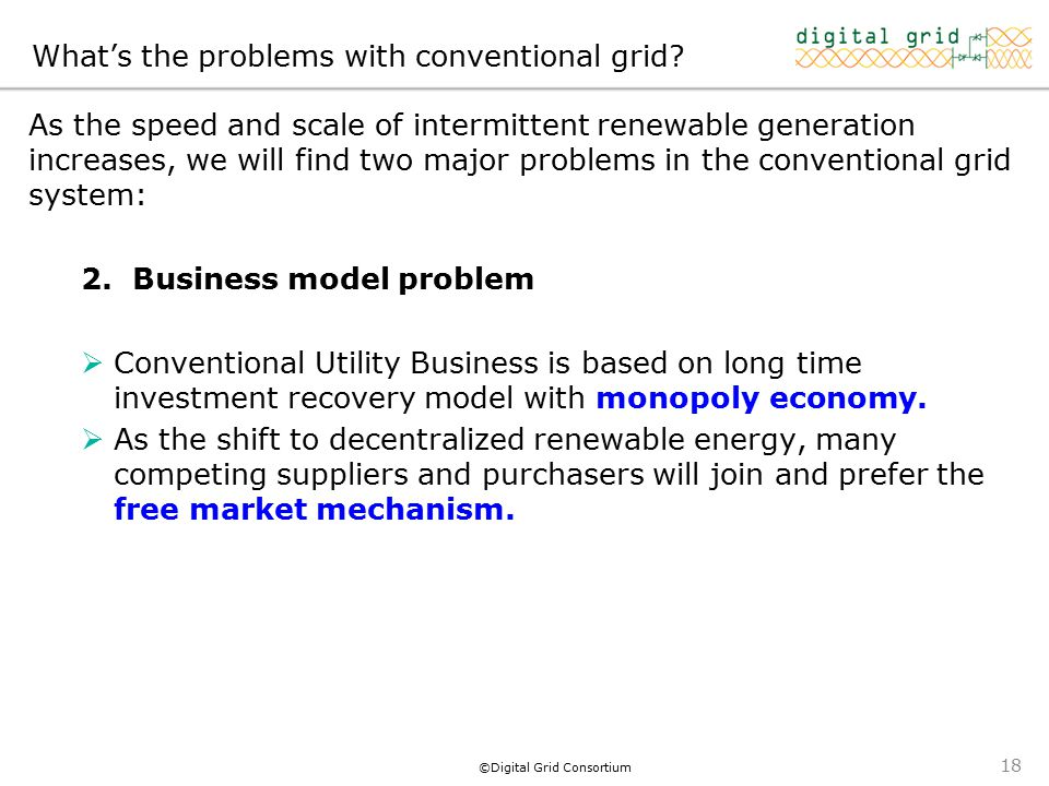 ©Digital Grid Consortium What's the problems with conventional grid.