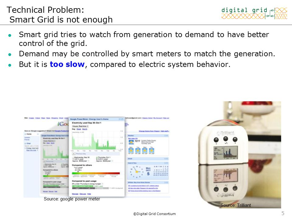 ©Digital Grid Consortium Smart grid tries to watch from generation to demand to have better control of the grid.