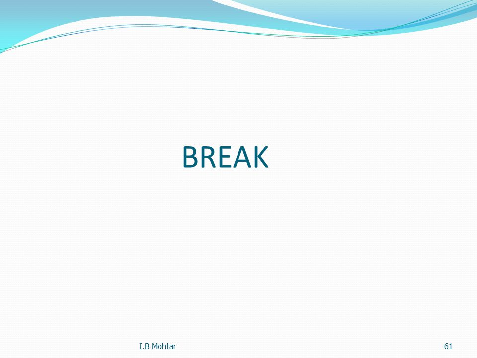 BREAK I.B Mohtar61