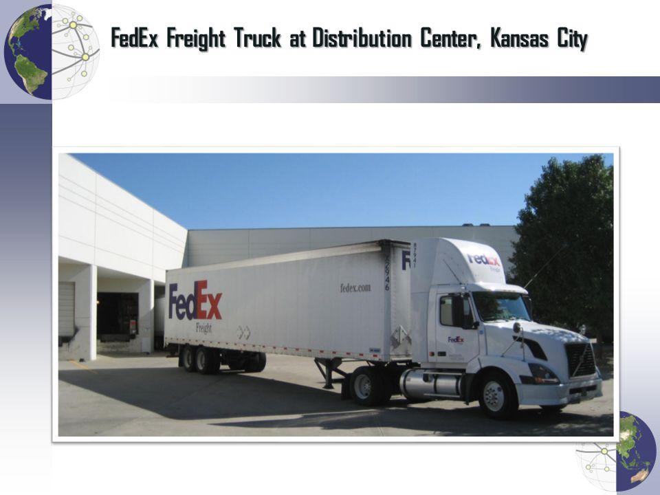 FedEx Freight Truck at Distribution Center, Kansas City