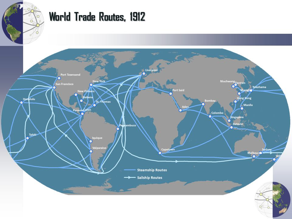 World Trade Routes, 1912