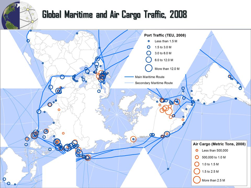 Global Maritime and Air Cargo Traffic, 2008