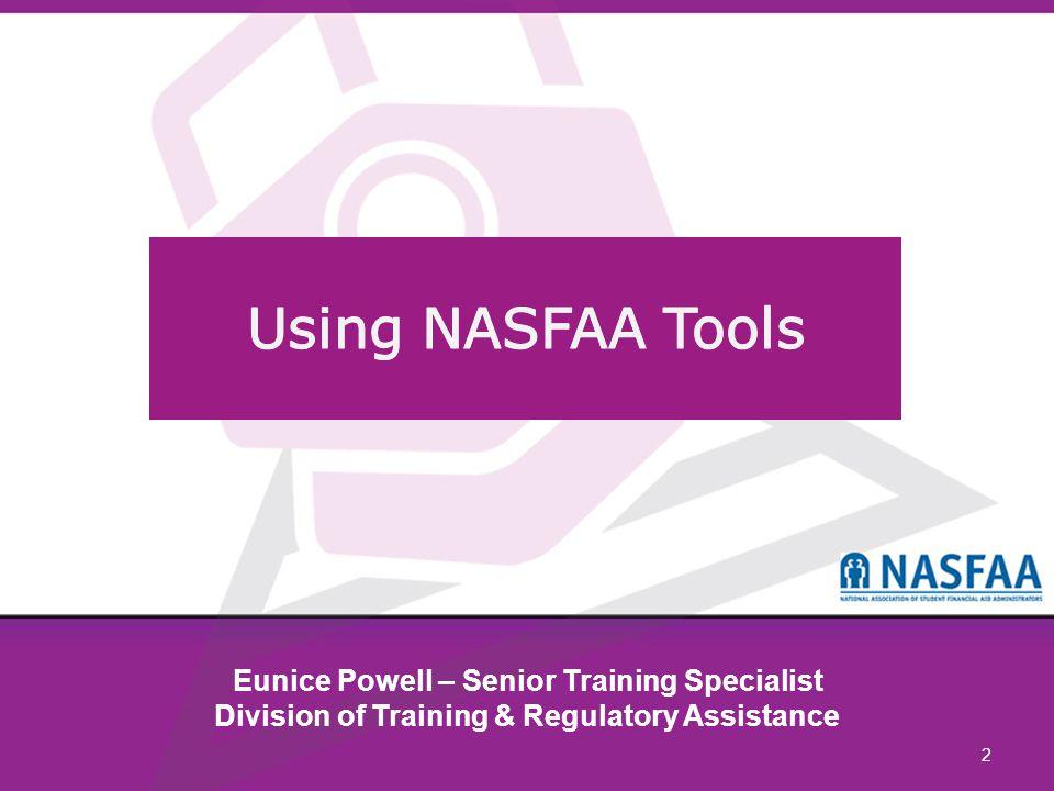 2 Eunice Powell – Senior Training Specialist Division of Training & Regulatory Assistance
