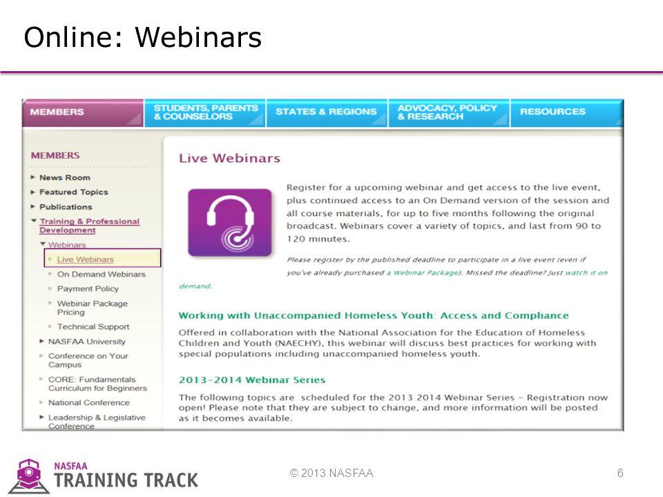 6 Online: Webinars