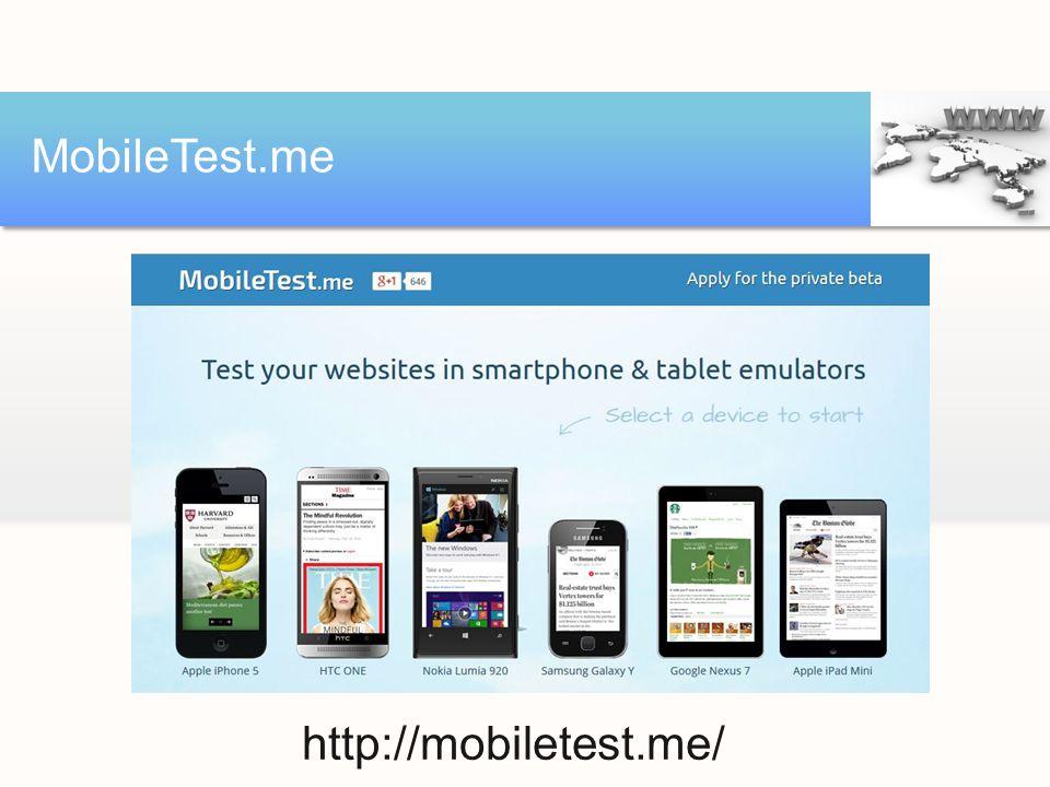 MobileTest.me http://mobiletest.me/