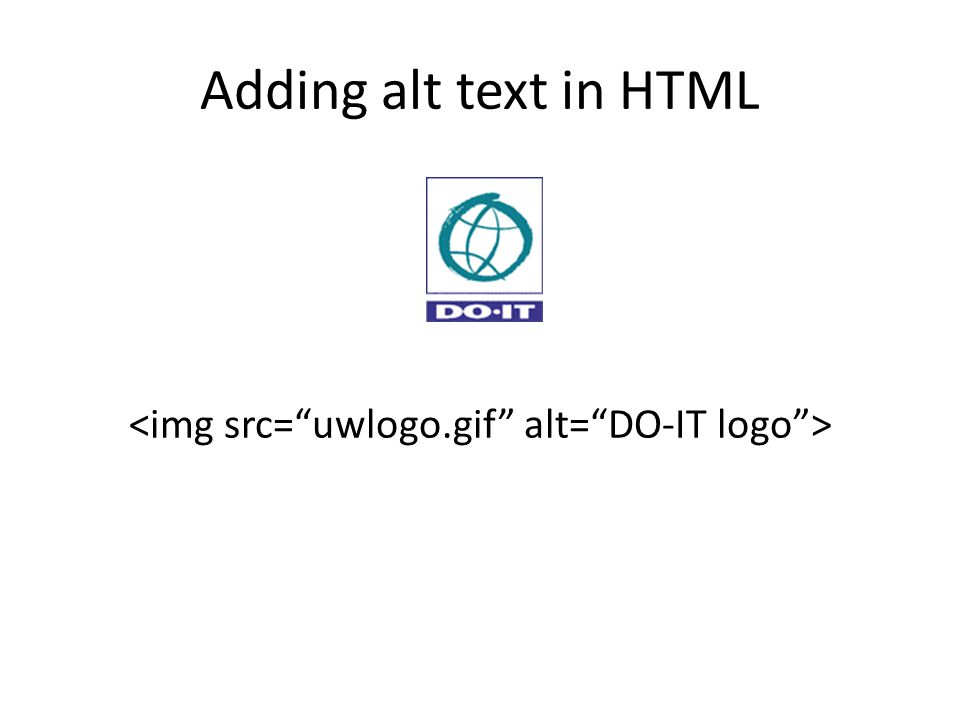 Adding alt text in HTML
