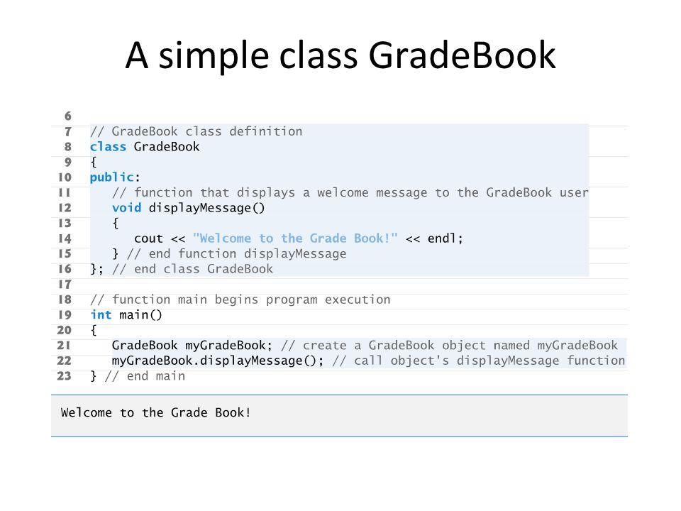 A simple class GradeBook