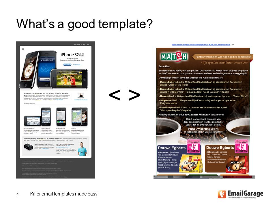 What's a good template Killer email templates made easy 4