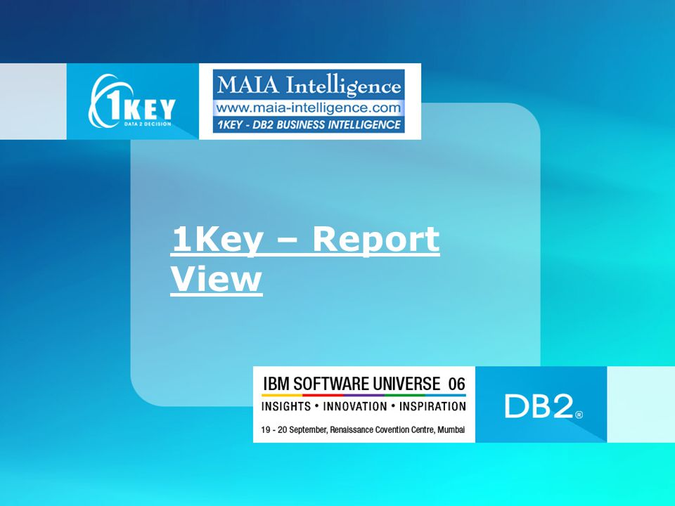 1Key – Report View